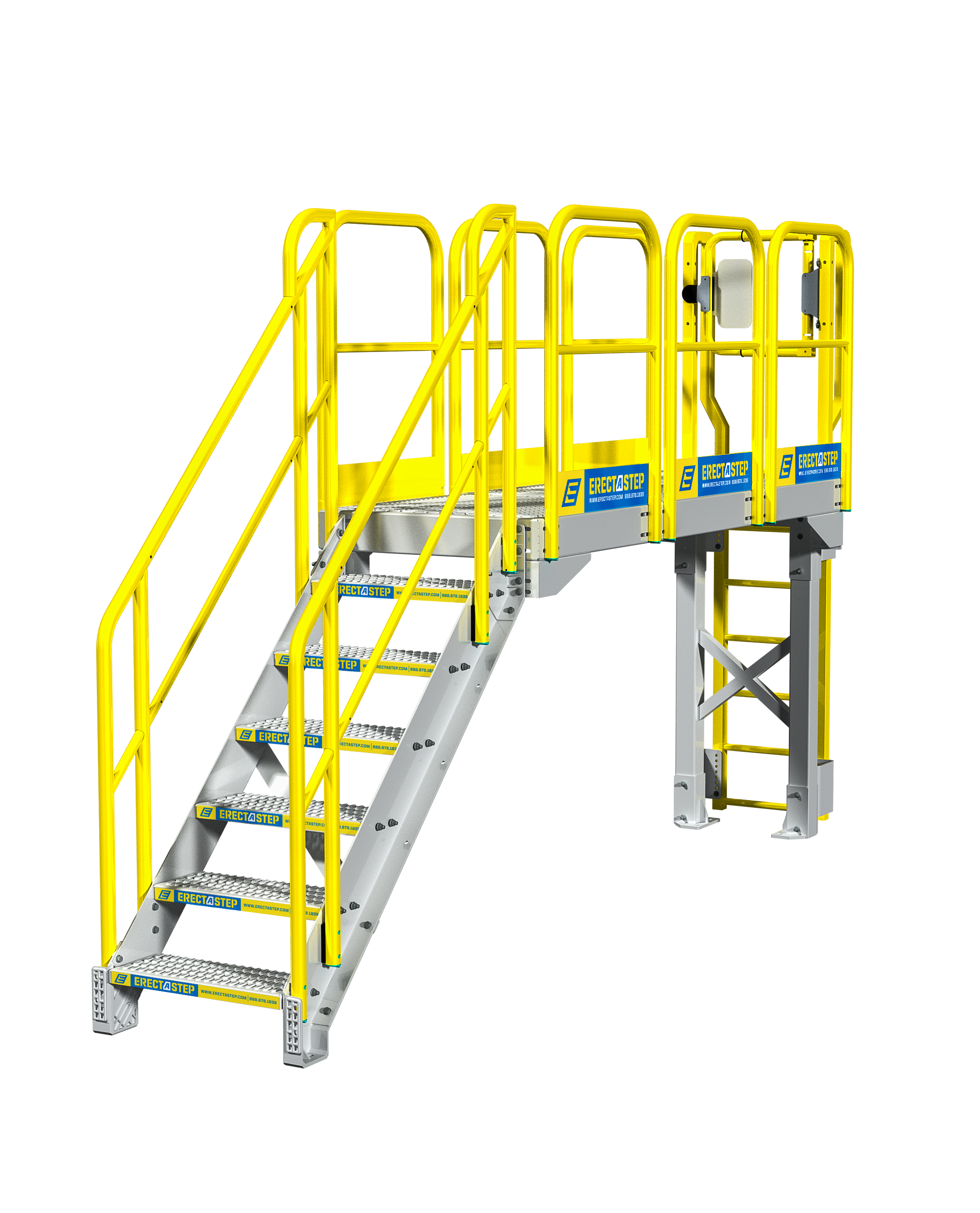 Industrial Catwalk Stair Configuration Northern